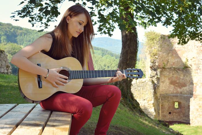 guitare musique amitie photoshoot alsace france