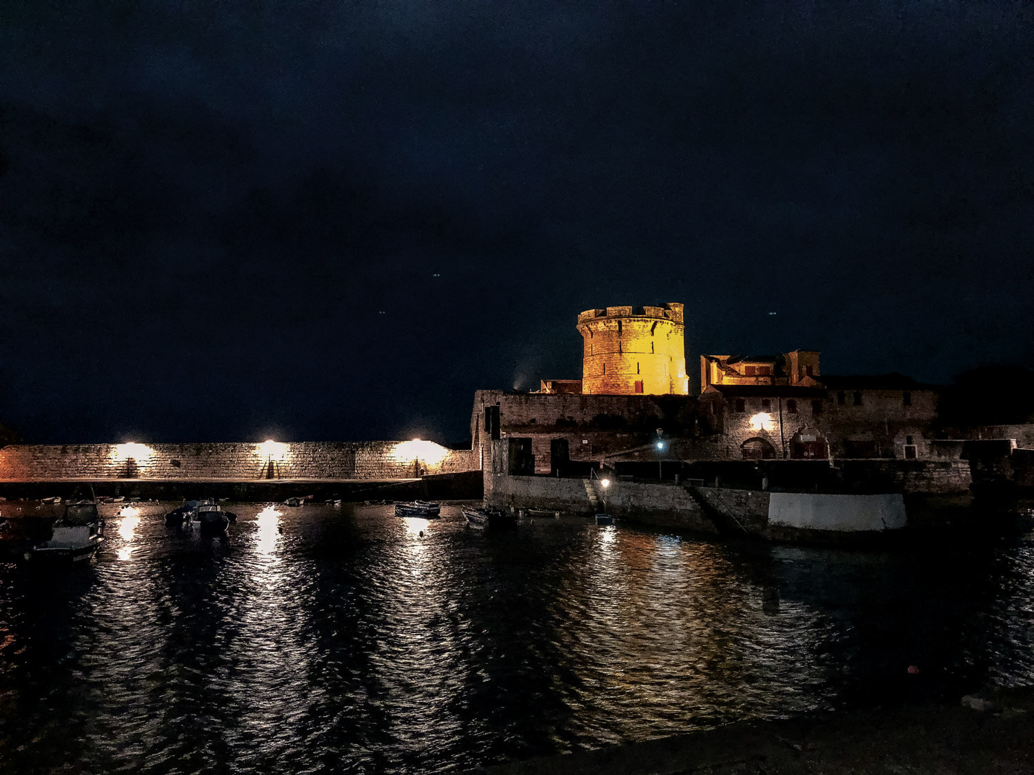 ciboure socoa fort atlantique pays basque illumination nuit lumieres