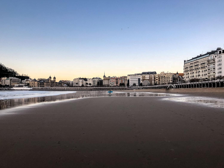 san sebastian espagne pays basque plage ocean