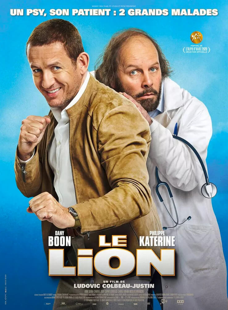 affiche film le lion ludovic colbeau justin dany boon