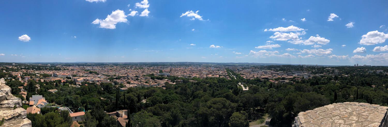 vue panoramique ville nimes tour magne