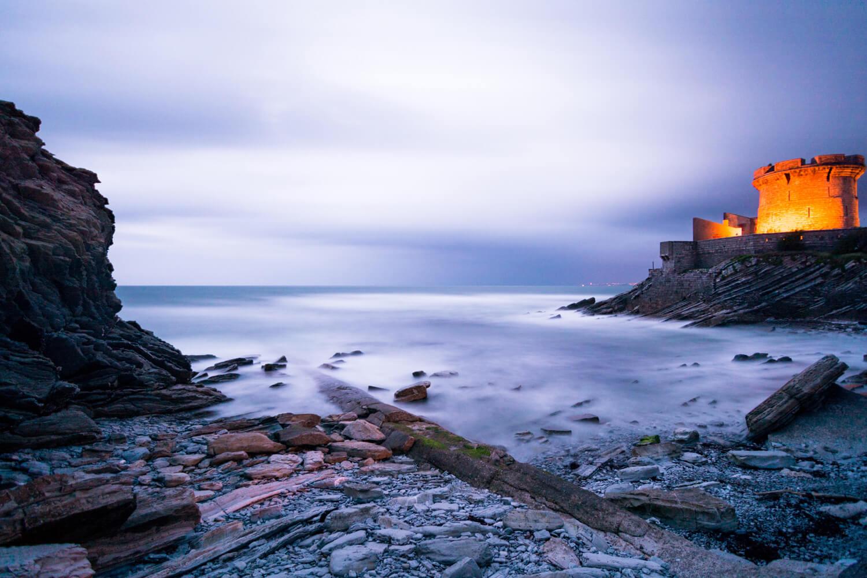fort Socoa Ciboure Saint-Jean-de-Luz pose longue