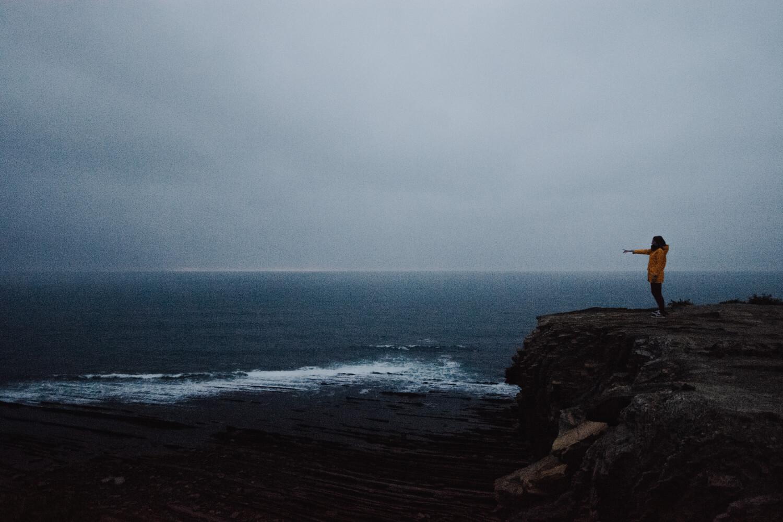 route corniche sentier littoral paysage nocturne photographie