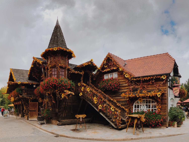 décoration automne parc thèmes Nigloland